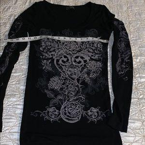 Stretchy dressy bling shirt by Hannah